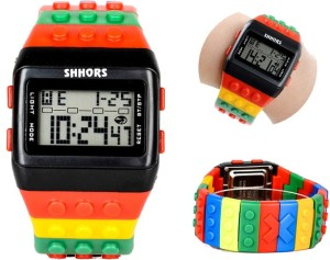 Zegarek Jelly Watch Shhors Kolorowy LED C